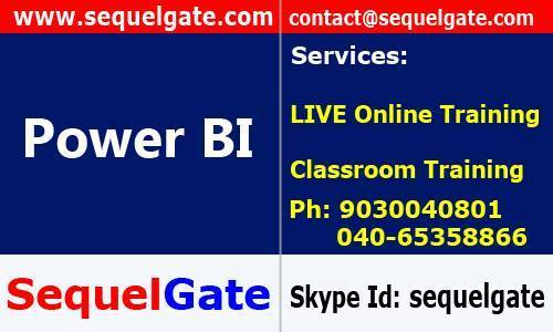 Real Time Live Online Training On Power BI @ SequelGate