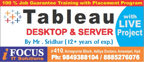BEST ONLINE TRAINING FOR TABLEAU WITH DESKTOP & SERVER - Teaching