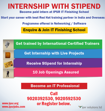 Internship With Stipend At IPSR - Professional Course In