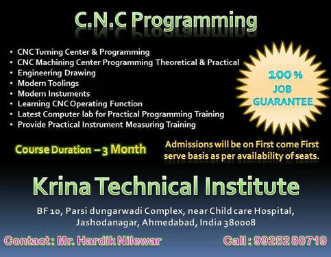 Cnc Programming In Ahmedabad - Teaching Course In Gujarat