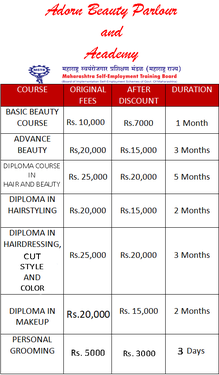 GOVT RECOGNIZED BEAUTY PARLOUR AND ACADEMY @Rs 7000 Onwards - Beauty