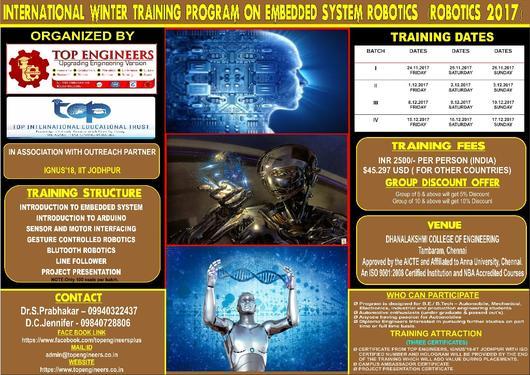 INTERNATIONAL TRAINING PROGRAM ON EMBEDDED SYSTEM ROBOTICS