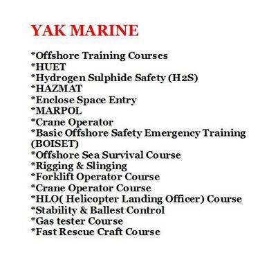 Rigging & Slinging Course | Offshore Courses In Cbd India