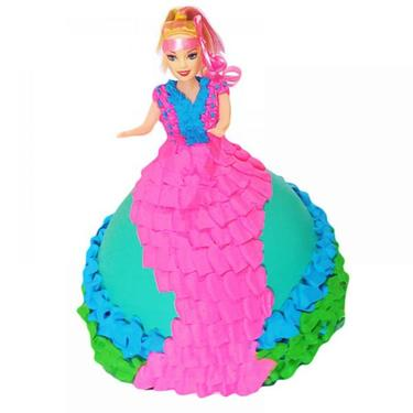 Online Barbie Cake For Your Baby Girl Birthday Event Services In