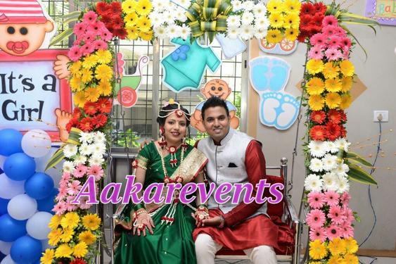 Baby shower dohale jevan oti bharan godh bharai for Baby shower function decoration