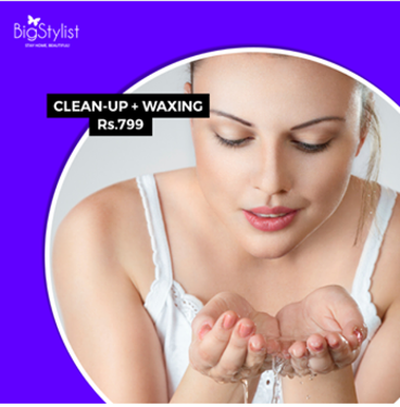 GET Beauty Parlour Services At Your Home- Cleanup + Waxing