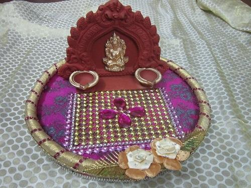 Star aarathi creations Aarathi plates decorations : decorative aarti plates - pezcame.com