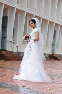 Grace Christian Wedding Gown Bridal Make Up Delhi Wedding