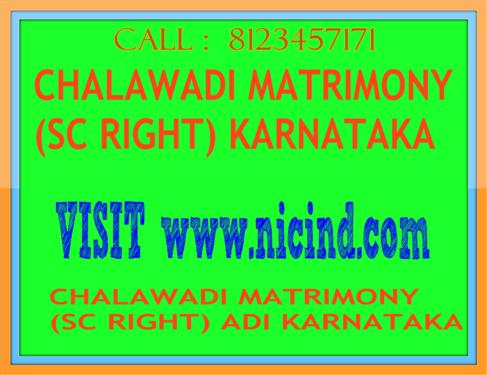 Sc Chalavadi Matrimony Sc Right Adi Karnataka - Matrimonial