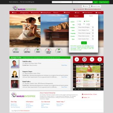 Excellent Matrimonial Script With Different Templates Matrimonial - Matrimonial website templates