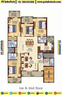 Dlf Valley Independent Floor Dlf Panchkula 95o1o31800 3 Bedroom Bhk Apartment For Sale In Panchkula Chandigarh Click In