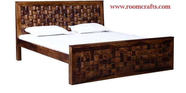 Sheesham Wood Double Bed Jodhpur Handicraft Used Bed For Sale In