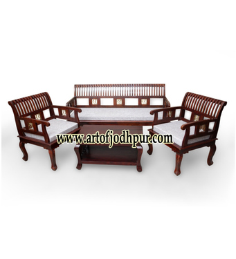 Online wooden furniture sofa sets used sofa for sale in for Used sofa set online