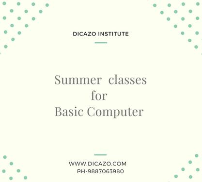 Summer Training Class For Basic Computer Course In Jaipur - Basic