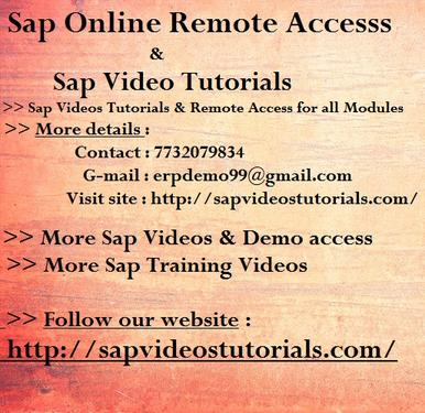 Sap Bw On Hana Online Access Simple Learning Training Videos