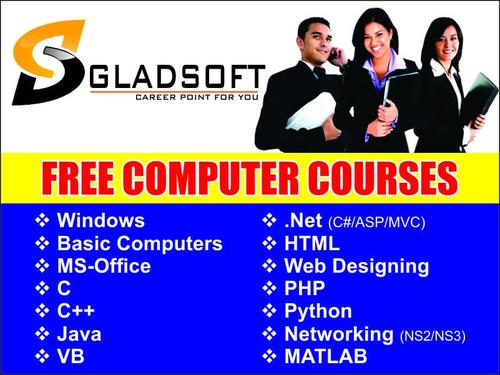 GLADSOFT FREE COMPUTER COURSES - Basic Computer Training, Software