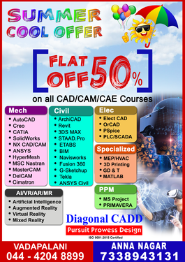 Summer Offer In Diagonal Cadd - Software Training Course In