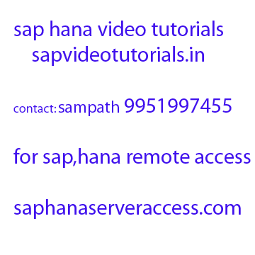 Sap Hana Online Server Access | Sap Training Videos Gurgaon