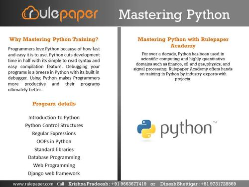 Mastering Python Training Bangalore - Software Training, Hardware