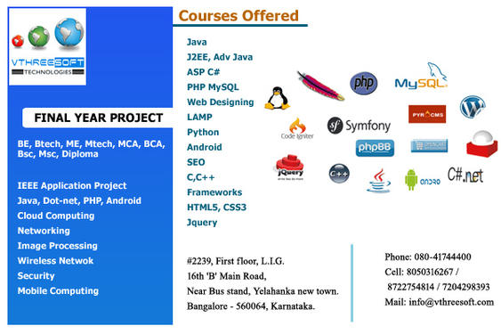 Final Year Ieee Projects For Cse Ise In Yelahanka Bangalore Software Training Application Programming Course In Yelahanka Bangalore Click In
