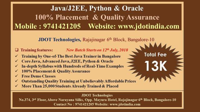 Best Java J2EE Training In Bangalore - Software Training