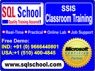 SSIS AND MSBI PRACTICAL TRAININGS WITH SQL SCHOOL - Software