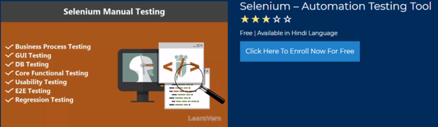 Selenium Software Testing Tutorial In Hindi FREE | LearnVern