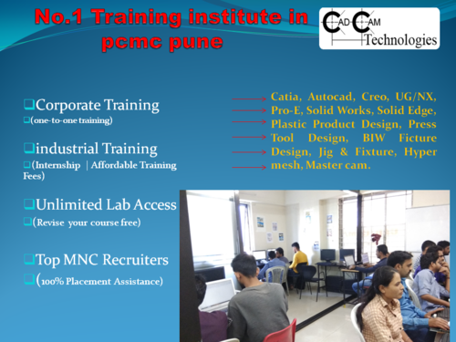 CAD CAM TECHNOLOGIES PLASTIC PRODUCT DESIGN COURSE IN Pcmc