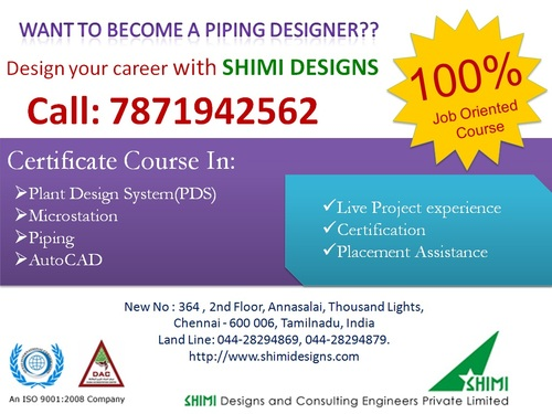 PDS,MICROSTATION,PIPING,AUTOCAD - Software Training Course In