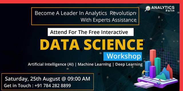 Analytics Path Free Data Science Workshop On 25th August 9AM