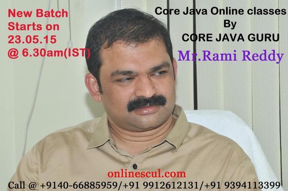 Core Java Video Conferencing By Core Java GURU(Mr Rami Reddy