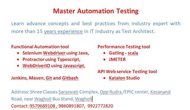 Master Automation Testing Selenium Protractor Gatling Jmeter
