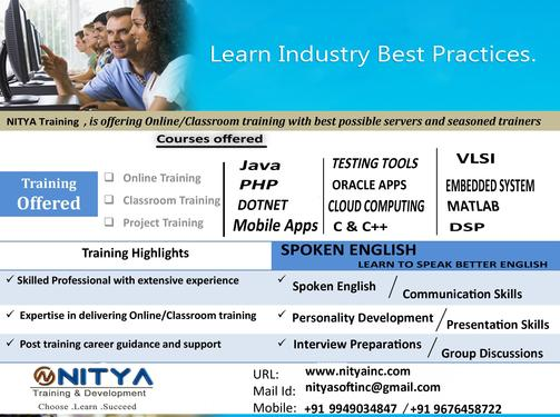 REAL TIME TRAINING AND DEVELOPMENT - Software Training, Application