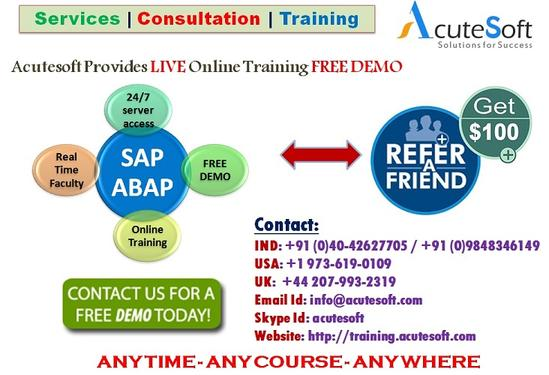 SAP ABAP Online Training By AcuteSoft With 10+ Years SMEs