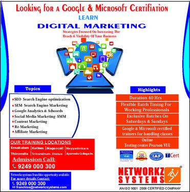 CCNA | MCSA | Digital Marketing | CEH Training In Kerala