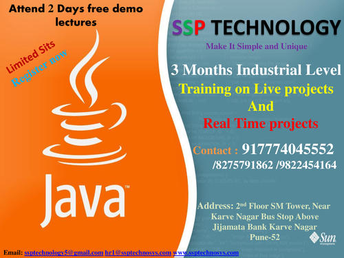 Java Internship With Experience Letter - Software Training Course In