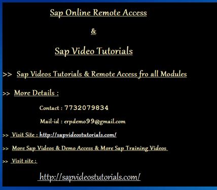 Sap Bw4 Hana Online Remote Access Cochin - Software Training Course