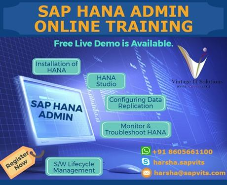 SAP HANA Administration Online Training In Hyderabad  - Computer