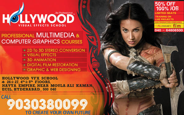100% JOB IN MULTIMEDIA - TRAINING ON HOLLYWOOD LIVE PROJECT