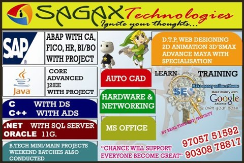 C / C++ / JAVA / DOT NET / AUTO CAD / MS-OFFICE / SAP