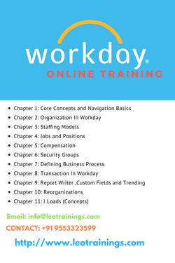 Workday Online Training Hyderabad - Software Training Course In