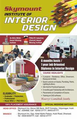 skymount institute of interior design   interior designing