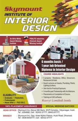 Skymount Institute Of Interior Design Interior Designing Course In