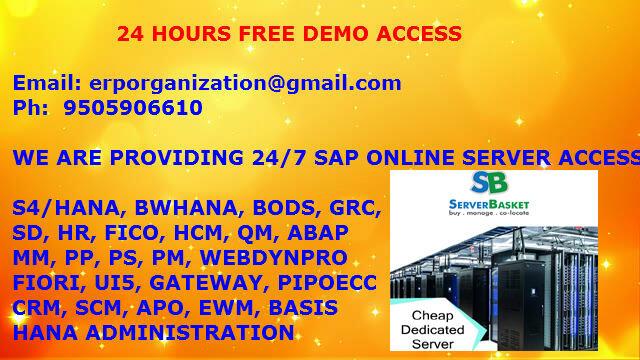 SAP HANA ONLINE SERVER ACCESS - Computer & Webdesign Services In