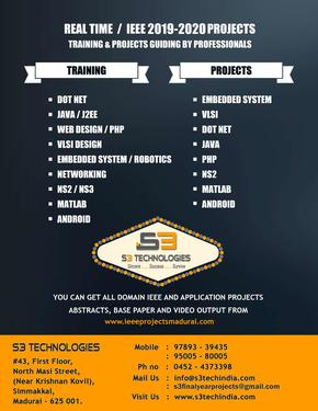 Best Ieee Project Center In Madurai Computer Webdesign Services In Madurai Click In