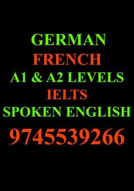 German , French ,English , IELTS, A1 & A2 Level - German