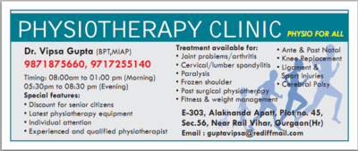 Physiotherapy Clinic In Gurgaon Health Beauty Amp Fitness