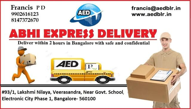 AED Courier Service Bangalore - Packers & Movers In Electronic City