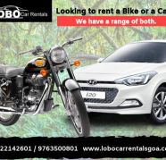 hire a car or a bike on rent in goa for sale  India