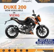 Used, JourneyWheels Ride at affordable fares Bike on hire in vizag for sale  India